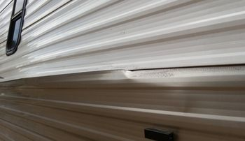 How To Repair Rv Siding Bubbles Delamination Bulging